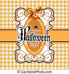 Halloween vector Illustration isolated on white