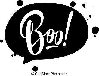 Halloween vector lettering Boo.