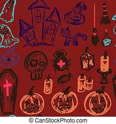 Halloween. Vector Seamless pattern