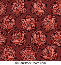 Halloween vector seamless pattern with roses. Flower background for All Saints Eve.