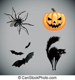 Halloween vector symbols