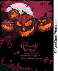 Halloween vector template