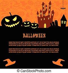 halloween, vektor, hintergrund
