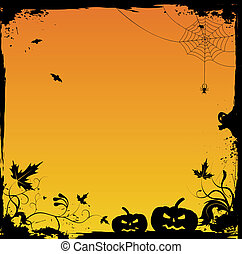 halloween, vettore, grunge, fondo