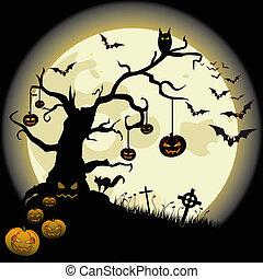 halloween, vollmond