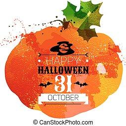 Halloween watercolor effect vector illustration