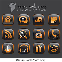 halloween web icons