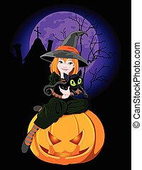 Halloween Which Holds Cat