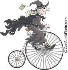 Halloween witch cycling