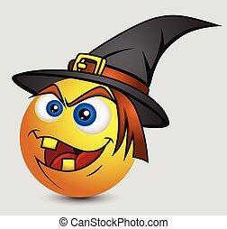 Halloween Witch Emoji Smiley
