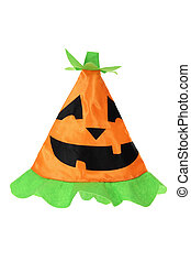 Halloween Witch Hat on White Background