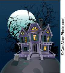 Halloween witch magic house