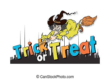Halloween Witch Vector Background