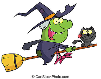 Halloween Witch - Cartoon character harrison rode a...