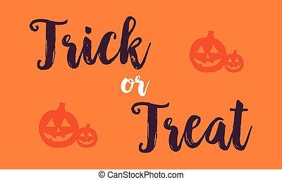 Halloween with pumpkin background card