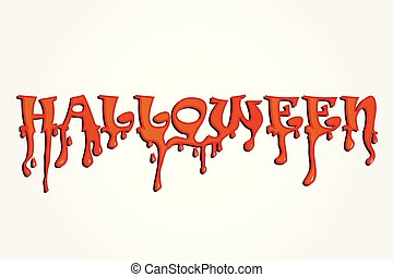 Halloween word party background