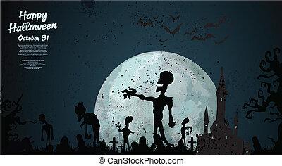 Halloween zombie background