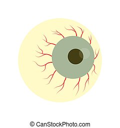 Halloween zombie eye - Bloodshot eyeball zombie monster....