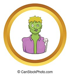 Halloween zombie vector icon
