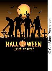 halloween, zombies, cimetière
