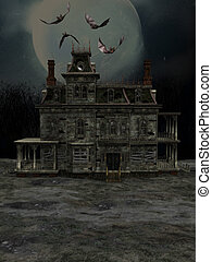 halloweenhouse - a Halloween house of full moon