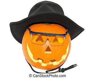 Halloween's orange pumpk