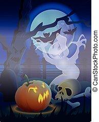 "Hallowem card - Vector file ""Halloween card"""