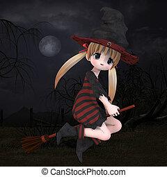 hallowen, わずかしか, 魔女, #02