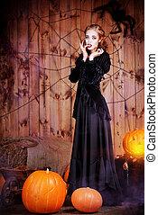 hallowen lady
