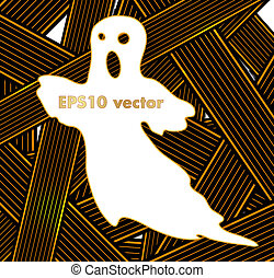 Hallowen Ribbons vector background