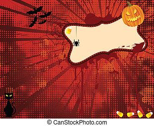 Hallowen Spooky Banner