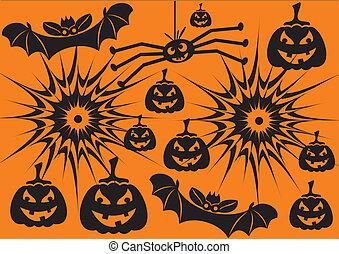 Hallowen symbols