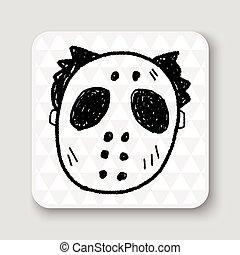 hallowenn mask doodle