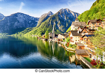 Hallstatt, Austria Alps village
