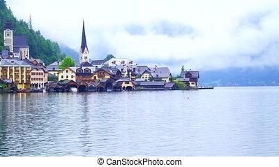 Hallstatt, Austria Landmark view - Hallstatt, Austria -...