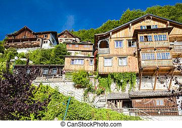 Hallstatt, mountain village in Austrian Alps, Austria