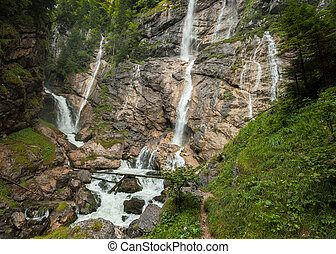 hallst?ttersee, オーストリア, 滝, lauterbach
