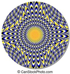 Hallucination Disk motion illusion - Patterns rotate and...