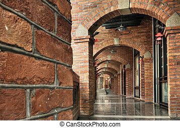 hallway, baksteen