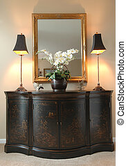 hallway furniture - oriental hallway ornamental chest