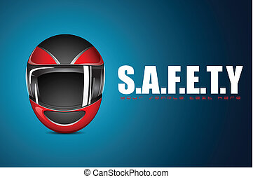 Halmet on Safety Background - illustration of halmet on...