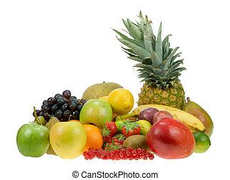 halmok, friss gyümölcs