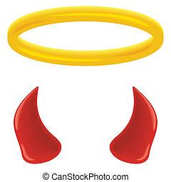 halo, en, horns