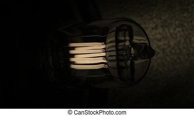 Halogen bulb studio lighting - Slow flickering lights of the...