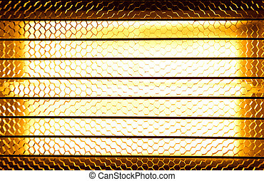 Close up of a halogen or Infrared heater lamps