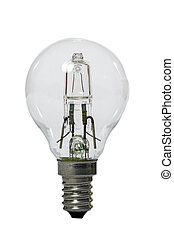 Halogen lamp with opaque glass bulb. - Halogen lamp with...