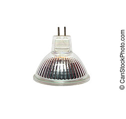 Halogen lamps isolated on white background with clipping path