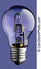 Halogen Light bulb isolated
