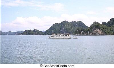 Halong bay - Sailing over ha long bay, Vietnam, Asia