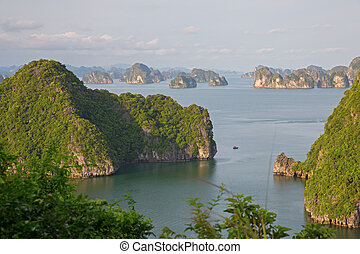 Halong Bay, Vietnam - Halong Bay, view from titop island,...